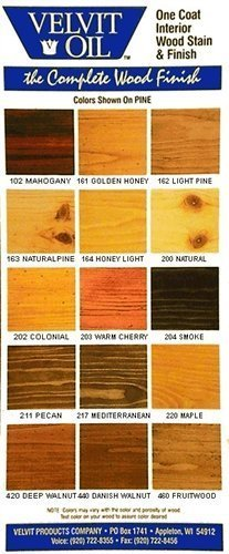 Velvit Oil Low VOC wood stain and sealer - interior- 5-gallon