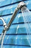 Handheld Shower Dechlorinator System - Housing with Filters -chrome
